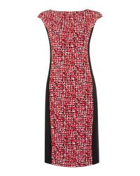 Max Mara | Red Fionda Body Con Print Dress | Lyst