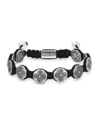 Nialaya - Metallic Dorje Sterling Silver Beaded Bracelet for Men - Lyst