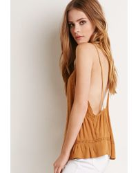 Forever 21 | Yellow Embroidered Y-back Cami | Lyst