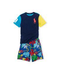 Ralph Lauren - Multicolor Tropical Cotton Terry Short - Lyst