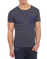 William Rast | Blue Pocket T-shirt for Men | Lyst