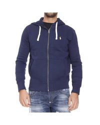 Polo Ralph Lauren | Blue Sweater Classic Hooded Fleece Zip for Men | Lyst