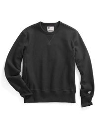 Todd Snyder | Reverse Weave Sweatshirt In Black for Men | Lyst