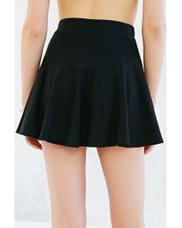 Silence + Noise - Black Godet Mini Skirt - Lyst