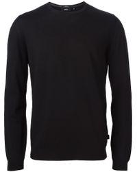 BOSS - Black 'bakar-e' Sweater for Men - Lyst