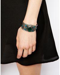 ASOS - Green Festival Cuff Bracelet - Lyst