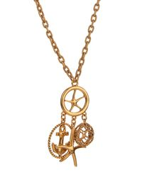 Oscar de la Renta - Metallic Nautical Gold-Plated Pendant Necklace - Lyst
