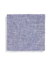 Todd Snyder | Blue Solid Linen Pocket Square for Men | Lyst