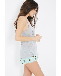 Forever 21 - Gray Fast Food Pj Set You've Been Added To The Waitlist - Lyst