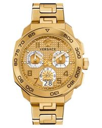 Versace - Metallic 'dylos' Chronograph Bracelet Watch for Men - Lyst
