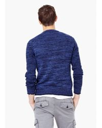 Mango | Blue Mixed Knit Sweater for Men | Lyst