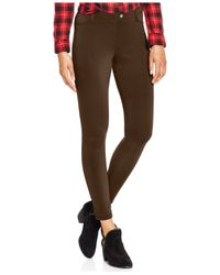 Hue | Brown Scuba Leggings | Lyst