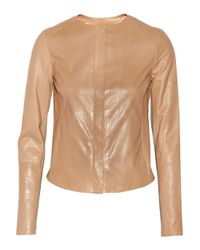 Vince - Natural Perforated Leather Jacket - Lyst