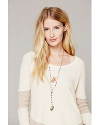 Free People | Orange Womens Double Layer Rosary | Lyst