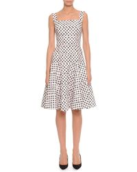 Dolce & Gabbana - White Polka Dot Tiered A-Line Dress - Lyst