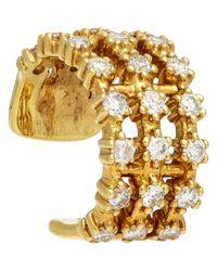 Sara Weinstock - Metallic Diamond & Gold Triple-row Ear Cuff-colorless - Lyst