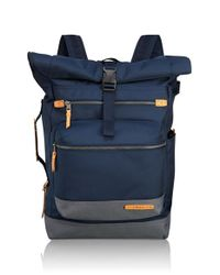 Tumi - Blue 'dalston - Ridley' Roll Top Backpack for Men - Lyst