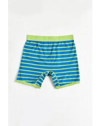 Urban Outfitters - Green Striped Boxer Brief for Men - Lyst