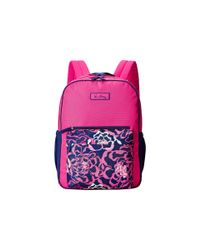 Vera Bradley | Pink Large Color Block Backpack | Lyst