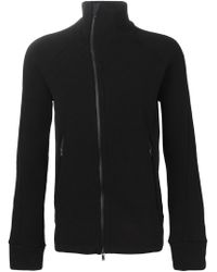 The Viridi-anne - Black High Neck Zipped Cardigan for Men - Lyst
