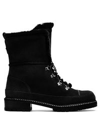 Stuart Weitzman | Black Lined Velour Ankle Boots | Lyst
