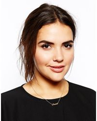 ASOS - Metallic Clean Open Triangle Necklace - Lyst