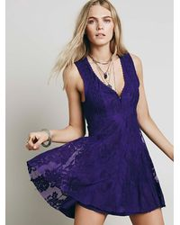 Free People | Purple Reign Over Me Sleeveless Dress | Lyst