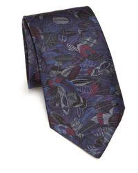 Ferragamo - Gray Plume Silk Tie for Men - Lyst