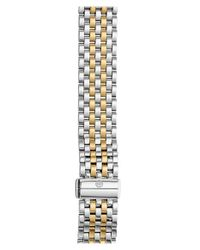 Michele - Metallic 'Gracile' 18Mm Two-Tone Watch Bracelet Band - Lyst