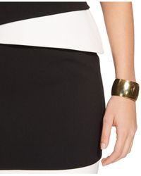 Lauren by Ralph Lauren - Black Two-Tone Boat-Neck Dress - Lyst
