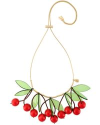 P.A.R.O.S.H. - Red 'cherry' Necklace - Lyst