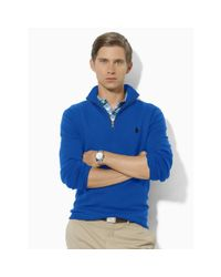Ralph Lauren | Blue Merino Wool Full-zip Sweater for Men | Lyst