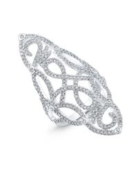Anne Sisteron | Metallic 14kt White Gold Diamond Taylor Ring | Lyst
