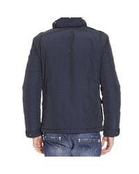 Woolrich - Blue Down Jacket for Men - Lyst