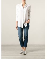 Equipment - White Loose Fit Tunic - Lyst