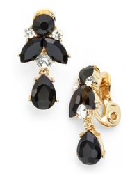 Anne Klein | Metallic Cluster Drop Clip Earrings | Lyst