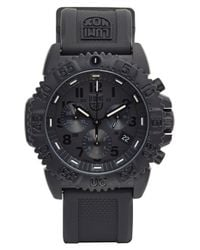 Luminox | Black 'sea - Navy Seal Colormark' Chronograph Silicone Strap Watch for Men | Lyst