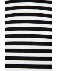 Nicholas - Black Stripe Ponti Crop Top - Lyst