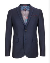 Ted Baker | Blue Illion Contrast Trim Blazer for Men | Lyst