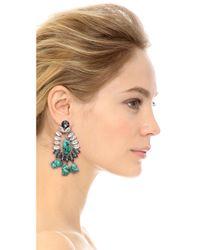 By Malene Birger   Blue Braicca Clip On Earrings   Lyst