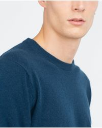 Zara | Blue Cashmere Sweater for Men | Lyst