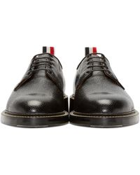 Thom Browne - Black Leather Derby Shoes for Men - Lyst