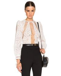 Zimmermann - White Esplanade Embroidered Blouse - Lyst