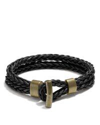 COACH | Black Philip Crangi Double Braid Toggle Bracelet for Men | Lyst
