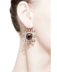 Sylva & Cie | Metallic One Of A Kind Rough Diamond Art Deco Earrings | Lyst