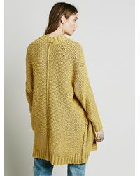 Free People | Yellow Lounge All Day Cardi | Lyst