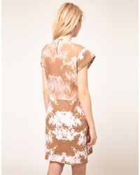 Antipodium - Brown Halftime Dress with Silk Trim - Lyst