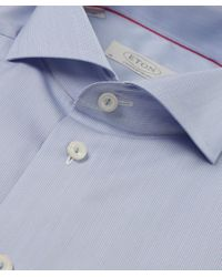 Eton of Sweden | Blue Contemporary Fit Micro Stripe Shirt for Men | Lyst