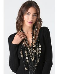 Bebe | Black & Gold Bead Necklace | Lyst