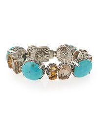 Stephen Dweck | Blue Turquoise & Quartz Link Bracelet | Lyst
